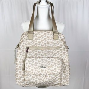 Kipling Commuter Camryn Bag-Laptop Bag-Optic Beige